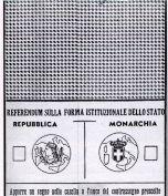 Scheda referendum istituzionale