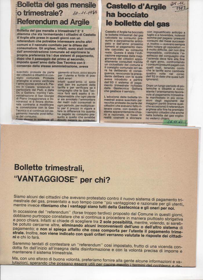 Articoli e volantino su referendum bollette gas-2