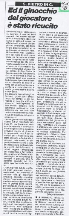 Articolo conclusivo querele ritirate, gen. 1989