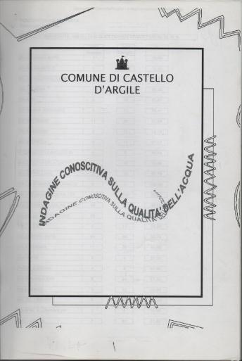 Copertina fascicolo indagine su qualità dell'acqua '96