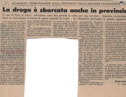 Droga in provincia, inchiesta 1980