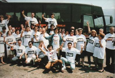 In pullman verso Napoili a iniziativa per Prodi-Ulivo 1994