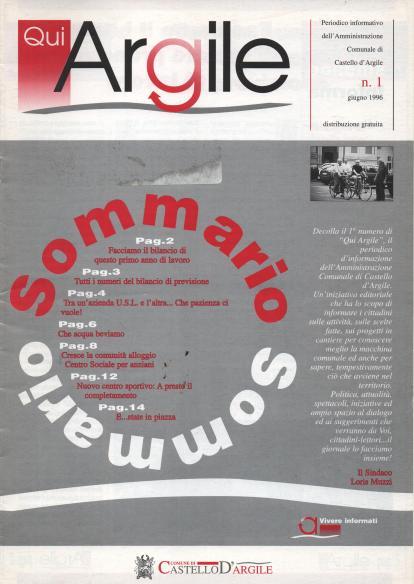 Qui Argile 1° numero 1996