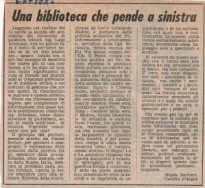 Lettera al Carlino per bibliot. 1976, rid