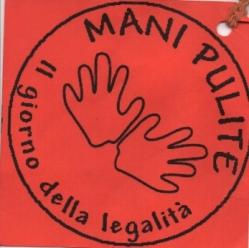 Mani pulite, cartellino presenza Palavobis, 2002, rid.