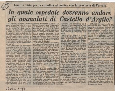 Primo articolo sul Carlino 1978, rid.