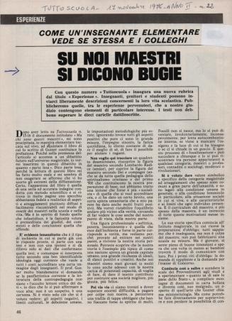 Tuttoscuola, art. mio 1976, rid.